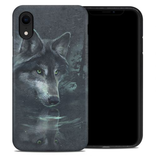Wolf Reflection iPhone XR Hybrid Case