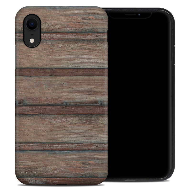 iPhone XR Hybrid Case design of Wood, Wood stain, Plank, Lumber, Hardwood, Plywood, Pattern, Siding with brown colors
