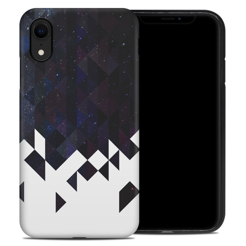 iPhone XR Hybrid Case design of Text, Pattern, Graphic design, Font, Purple, Design, Line, Triangle, Logo, Graphics with black, blue, white colors