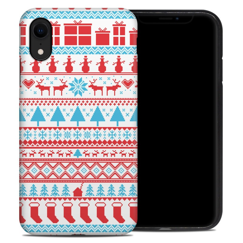 iPhone XR Hybrid Case design of Pattern, Textile, Line, Design with pink, white, red, gray, purple, blue colors