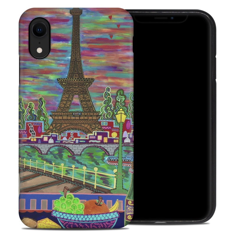 iPhone XR Hybrid Case design of Visual arts, Painting, Art, Modern art with red, yellow, blue, purple, green, yellow, brown colors