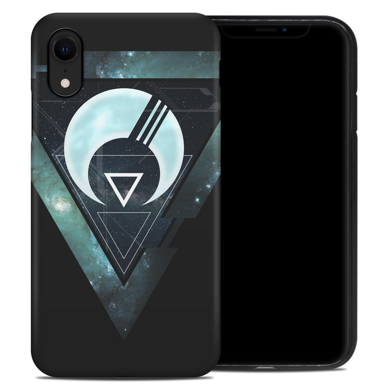 iPhone XR Hybrid Case design of Logo, Font, Emblem, Graphics, Graphic design, Fictional character, Symbol, Triangle with black, blue, white colors