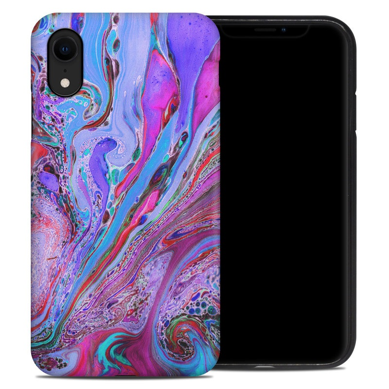iPhone XR Hybrid Case design of Pink, Purple, Pattern, Design, Visual arts, Art, Psychedelic art, Magenta, Acrylic paint, Colorfulness with pink, purple, blue, green colors