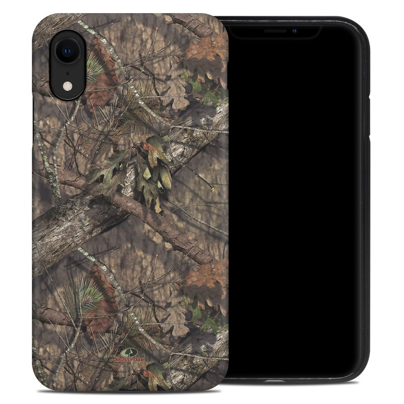 iPhone XR Hybrid Case design of shellbark hickory, Camouflage, Tree, Branch, Trunk, Plant, Leaf, Adaptation, Wood, Twig with orange, green, red, black, gray colors