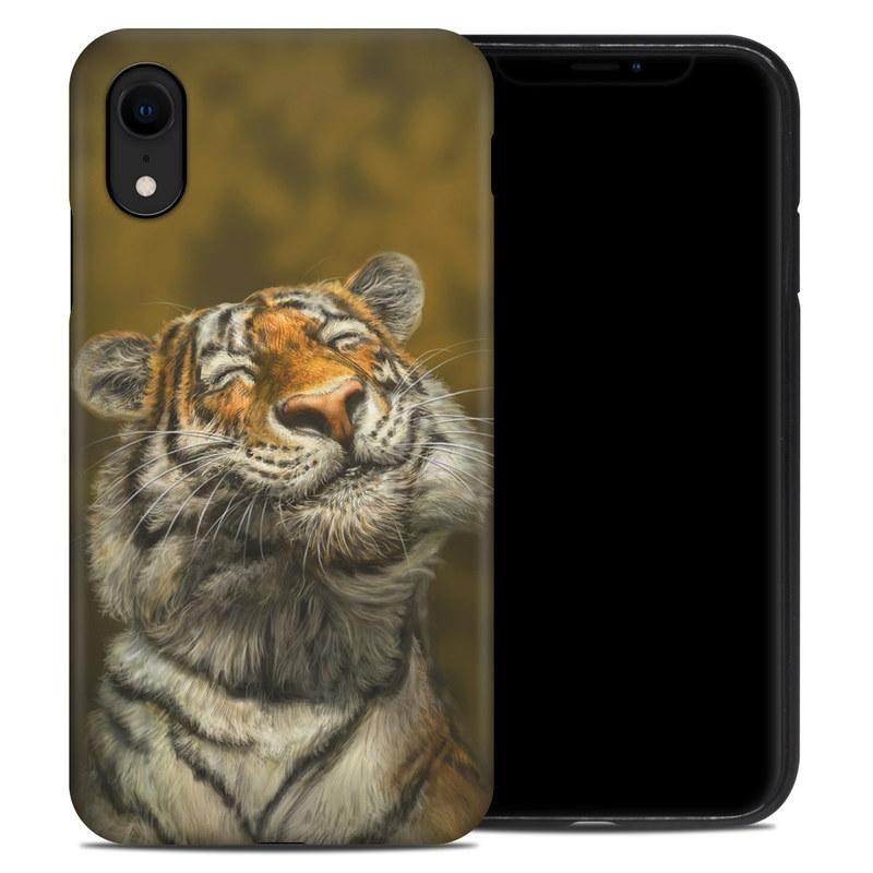 iPhone XR Hybrid Case design of Tiger, Vertebrate, Bengal tiger, Mammal, Wildlife, Siberian tiger, Terrestrial animal, Felidae, Snout, Whiskers with black, white, orange, yellow colors