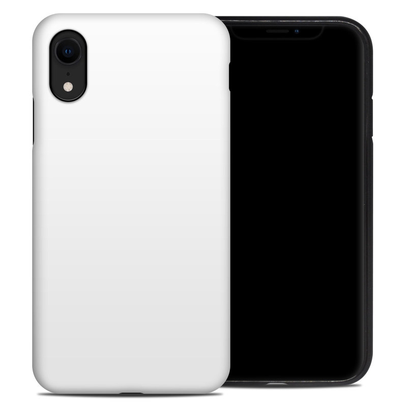 iPhone XR Hybrid Case design of White, Black, Line with white colors