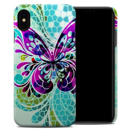 Butterfly Glass iPhone XS Max Clip Case