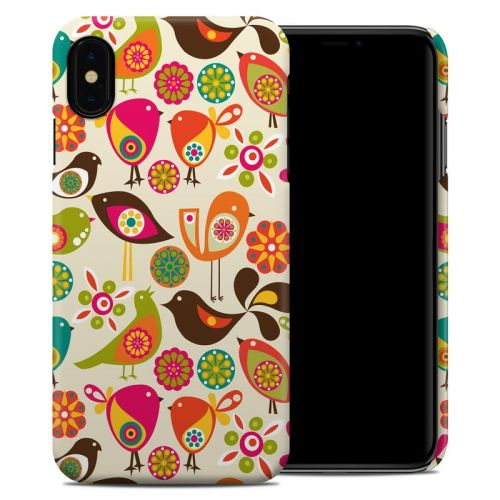 Bird Flowers iPhone XS Max Clip Case