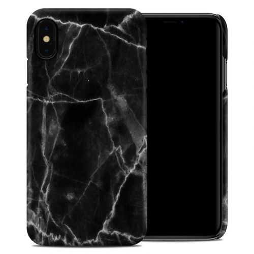 Black Marble iPhone XS Max Clip Case