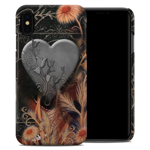 Black Lace Flower iPhone XS Max Clip Case