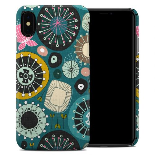 Blooms Teal iPhone XS Max Clip Case