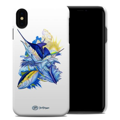 Blue White and Yellow iPhone XS Max Clip Case