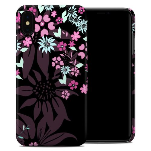 Dark Flowers iPhone XS Max Clip Case