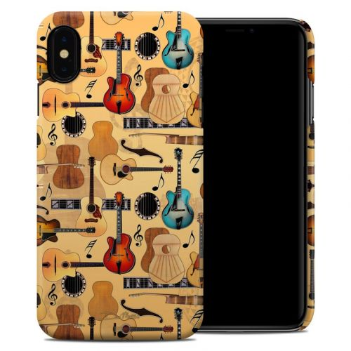Guitar Collage iPhone XS Max Clip Case
