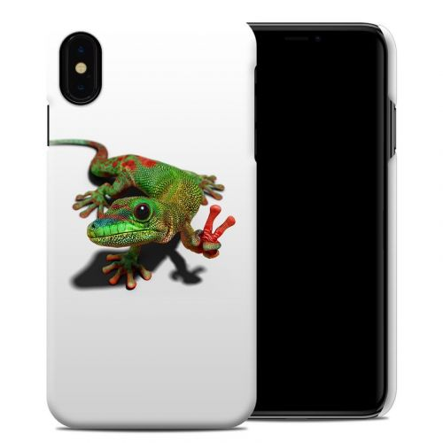 Peace Gecko iPhone XS Max Clip Case