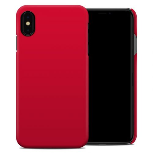 Solid State Red iPhone XS Max Clip Case