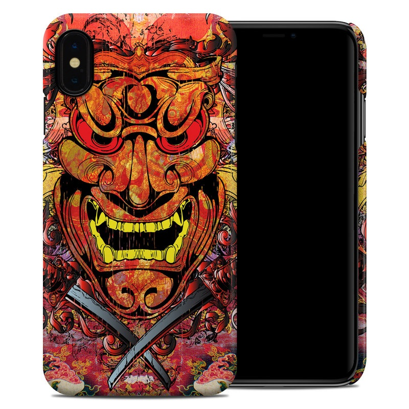 iPhone XS Max Clip Case design of Art, Psychedelic art, Visual arts, Illustration, Fictional character, Demon with red, orange, yellow colors