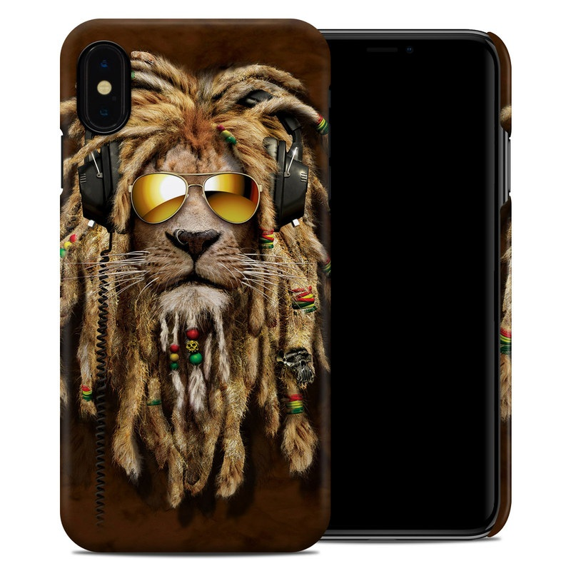 iPhone XS Max Clip Case design of Hair, Fur, Dreadlocks, Snout, Organism, Glasses, Whiskers, Mask, Wildlife, Fictional character with black, green, red, gray colors