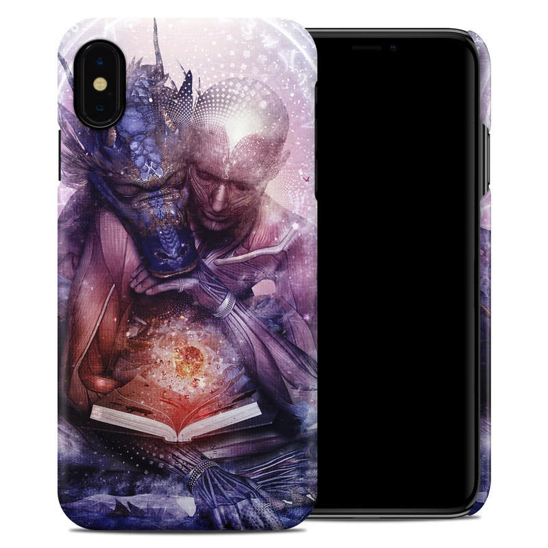 iPhone XS Max Clip Case design of Cg artwork, Illustration, Graphic design, Fictional character, Mythology, Graphics, Space, Art, Darkness with blue, black, red, yellow, white colors