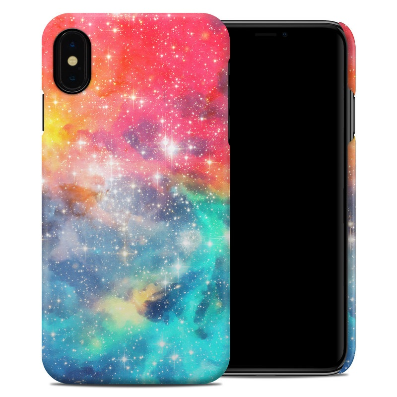iPhone XS Max Clip Case design of Nebula, Sky, Astronomical object, Outer space, Atmosphere, Universe, Space, Galaxy, Celestial event, Star with white, black, red, orange, yellow, blue colors