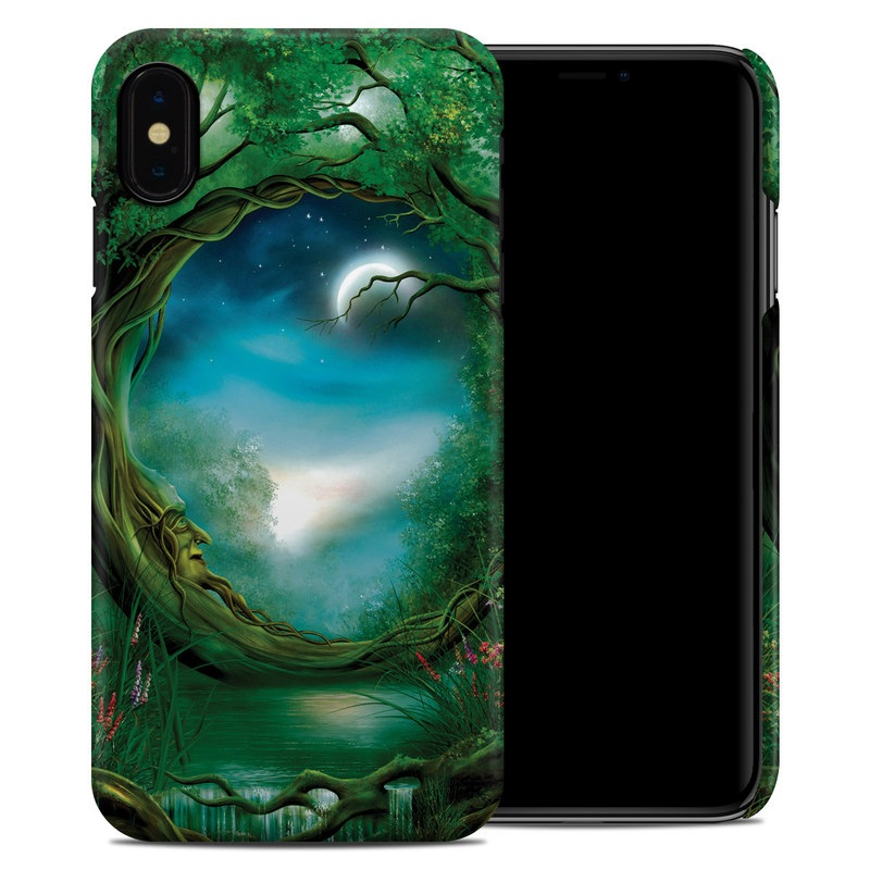 iPhone XS Max Clip Case design of Fractal art, Art, Organism, Fictional character, Earth, Cg artwork with black, blue, green, gray colors
