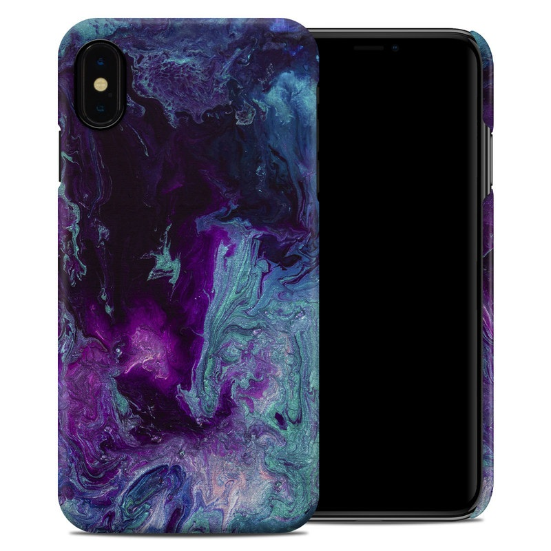 iPhone XS Max Clip Case design of Blue, Purple, Violet, Water, Turquoise, Aqua, Pink, Magenta, Teal, Electric blue with blue, purple, black colors
