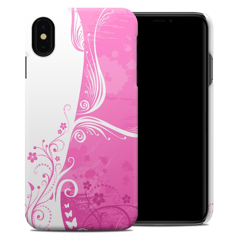iPhone XS Max Clip Case design of Pink, Pattern, Magenta, Design, Visual arts, Wallpaper, Paisley, Floral design, Ornament, Motif with pink, white, purple colors