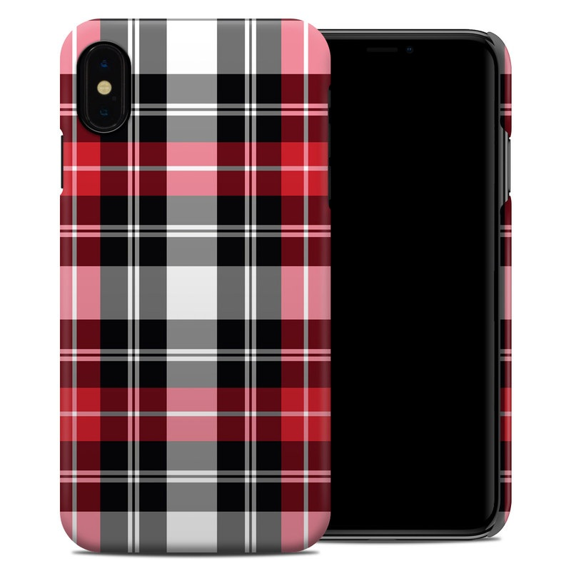 huge selection of 9419f 8526f Red Plaid iPhone XS Max Clip Case
