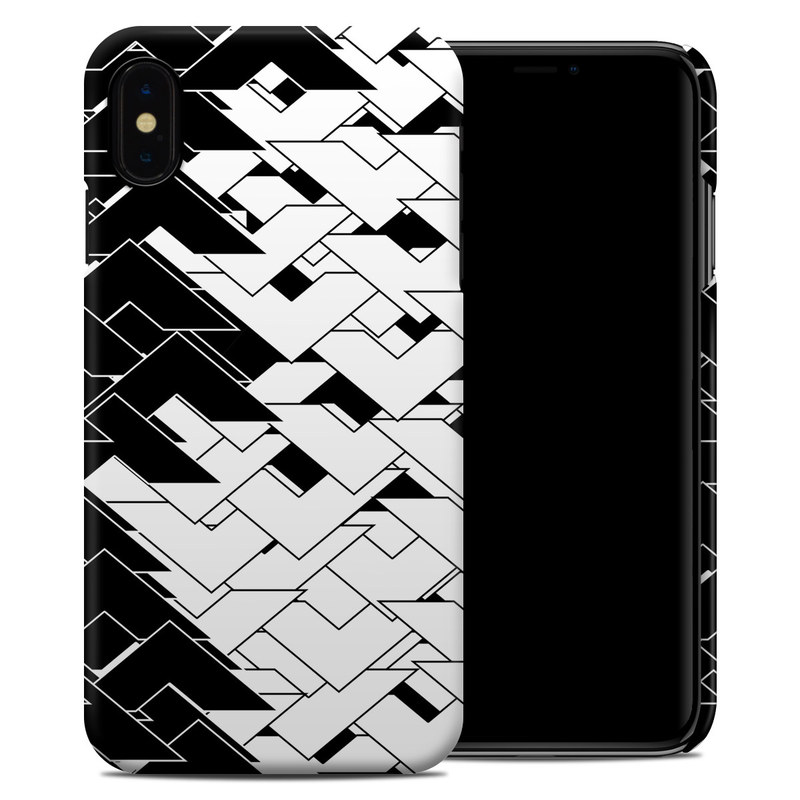 iPhone XS Max Clip Case design of Pattern, Black, Black-and-white, Monochrome, Monochrome photography, Line, Design, Parallel, Font with black, white colors