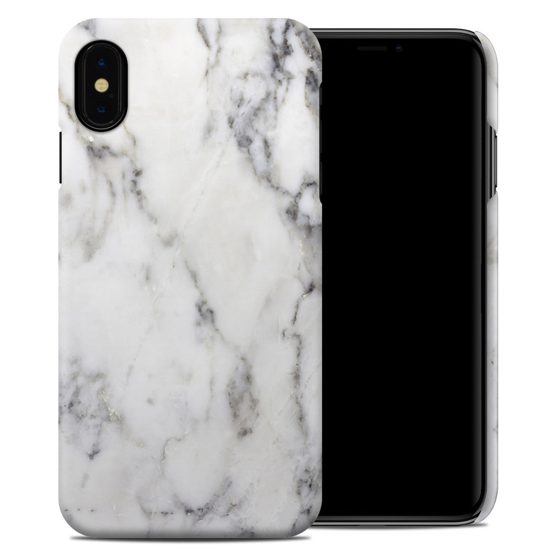 iPhone XS Max Clip Case design of White, Geological phenomenon, Marble, Black-and-white, Freezing with white, black, gray colors