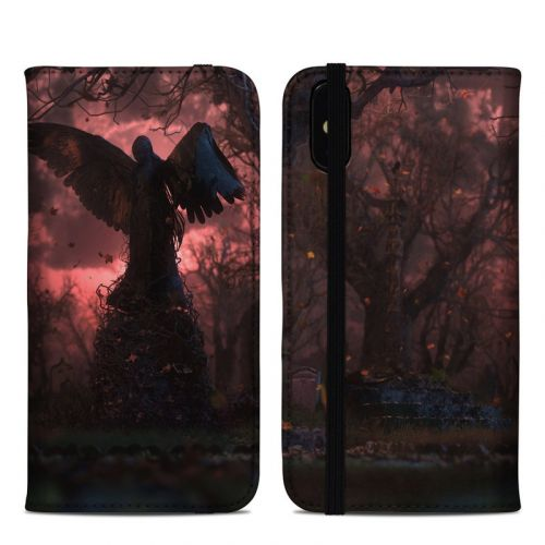 Black Angel iPhone XS Max Folio Case