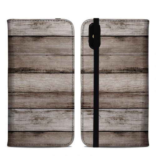Barn Wood iPhone XS Max Folio Case