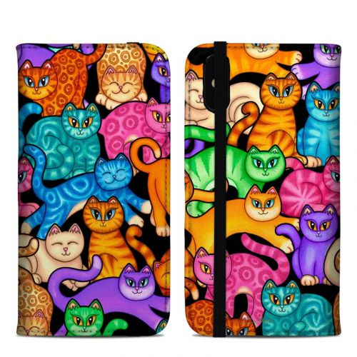 Colorful Kittens iPhone XS Max Folio Case