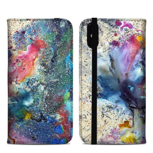 Cosmic Flower iPhone XS Max Folio Case