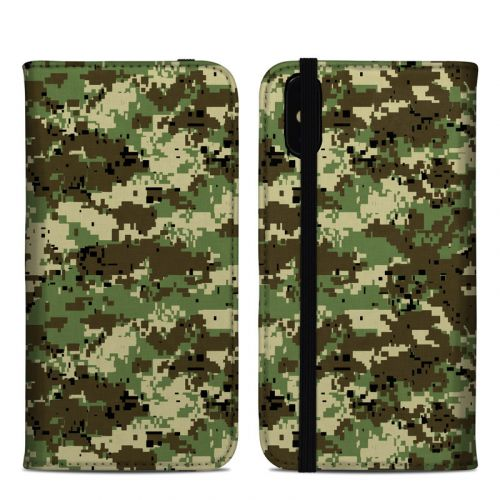 Digital Woodland Camo iPhone XS Max Folio Case