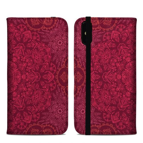Floral Vortex iPhone XS Max Folio Case