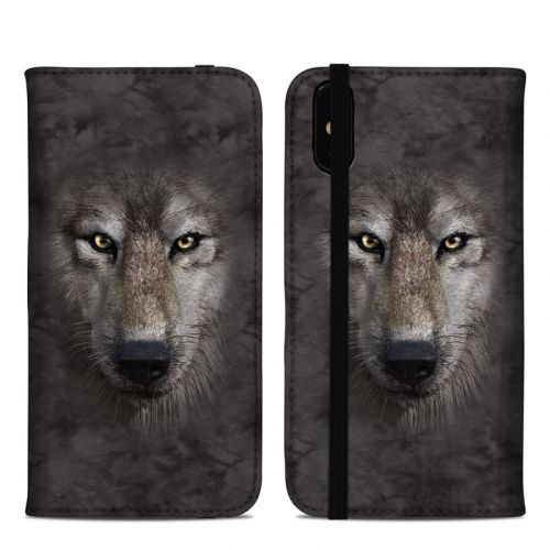 Grey Wolf iPhone XS Max Folio Case