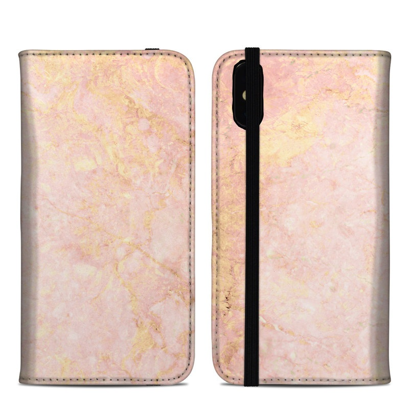 Rose Gold Marble Iphone Xs Max Folio Case Istyles