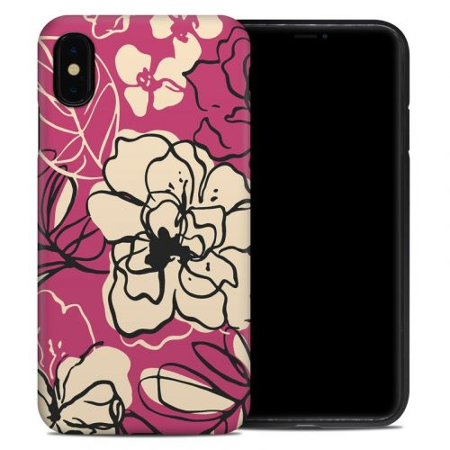 Black Lily iPhone XS Max Hybrid Case