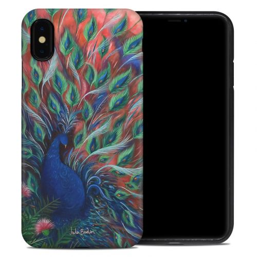 Coral Peacock iPhone XS Max Hybrid Case