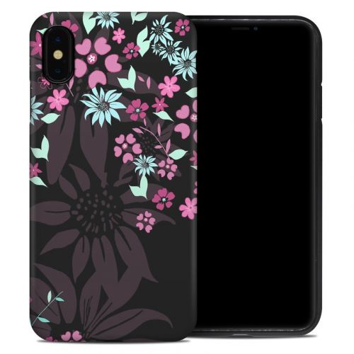 Dark Flowers iPhone XS Max Hybrid Case