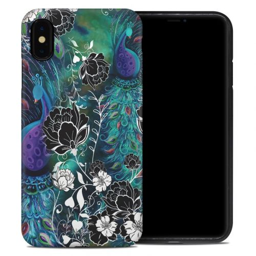 Peacock Garden iPhone XS Max Hybrid Case
