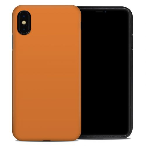 Solid State Orange iPhone XS Max Hybrid Case