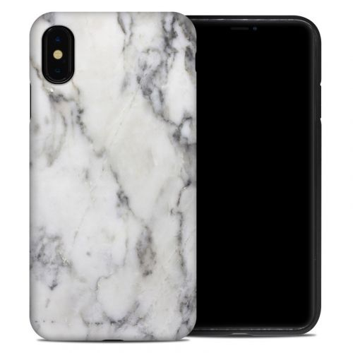 White Marble iPhone XS Max Hybrid Case