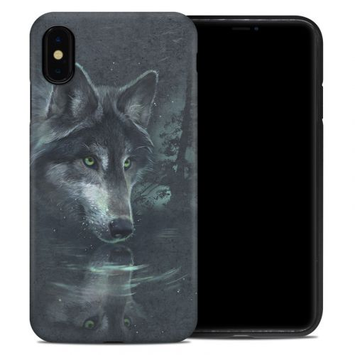 Wolf Reflection iPhone XS Max Hybrid Case