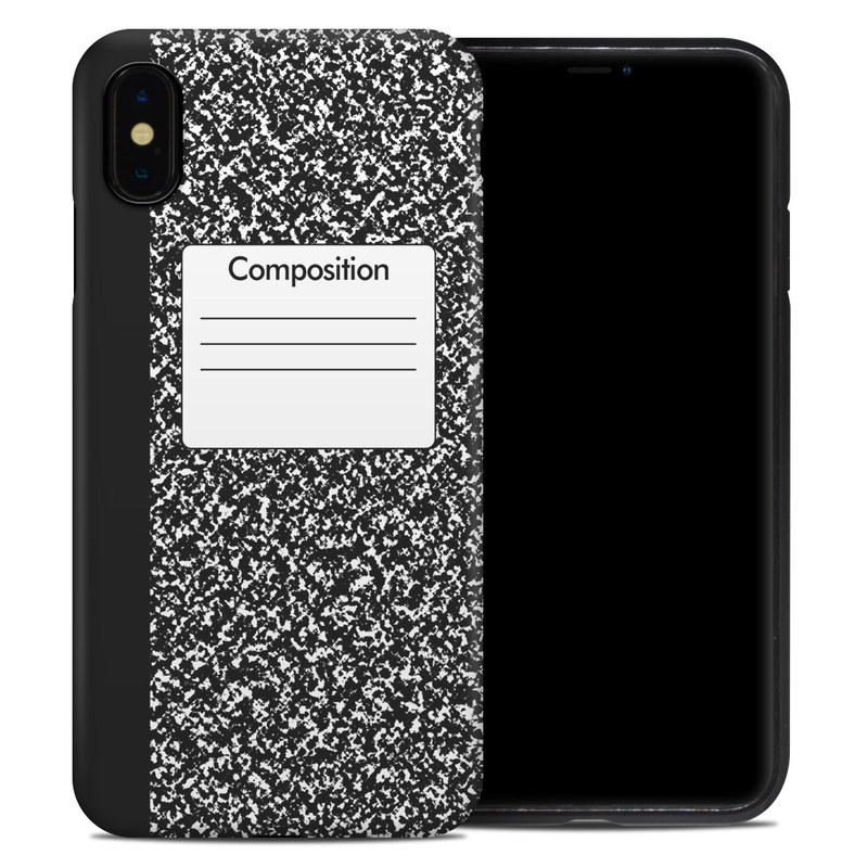 iPhone XS Max Hybrid Case design of Text, Font, Line, Pattern, Black-and-white, Illustration with black, gray, white colors