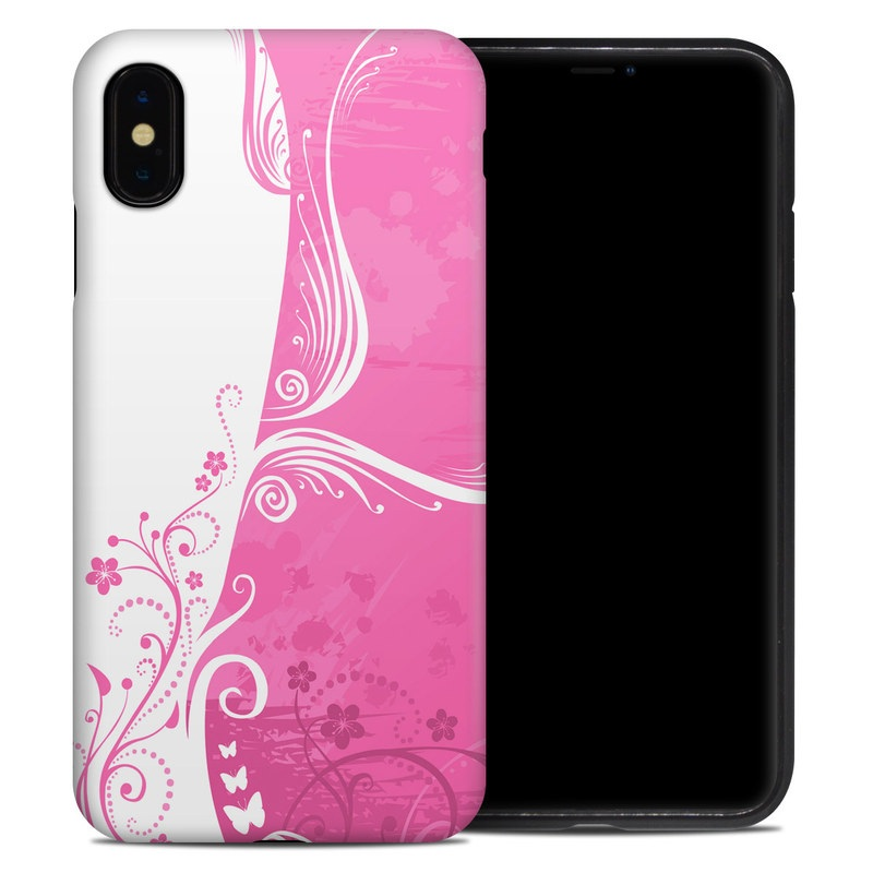 iPhone XS Max Hybrid Case design of Pink, Pattern, Magenta, Design, Visual arts, Wallpaper, Paisley, Floral design, Ornament, Motif with pink, white, purple colors