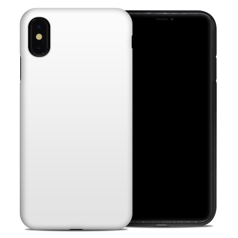 iPhone XS Max Hybrid Case design of White, Black, Line with white colors