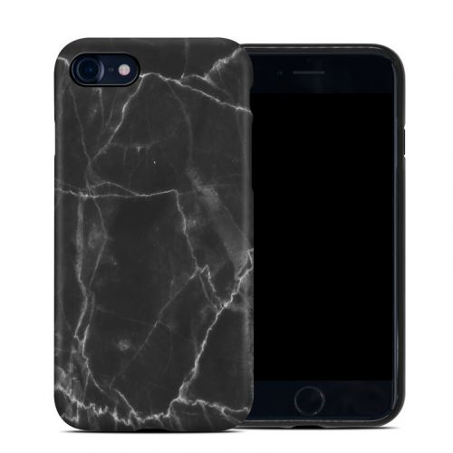 Black Marble iPhone SE Hybrid Case