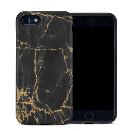 Black Gold Marble iPhone SE Hybrid Case
